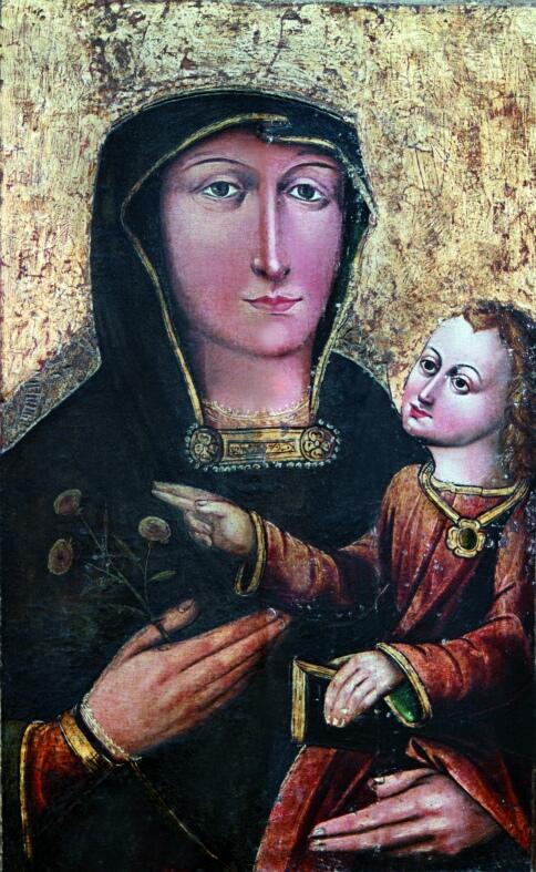 wizerunek Matki Bożej Pocieszenia  obraz na desce - XVI w.